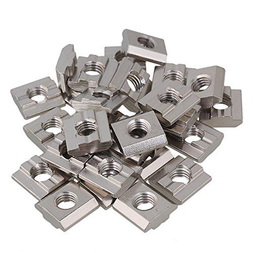 cnbtr 30 Stück 30 Reihe Europäische M8 Gewinde in T gleiten Nuss-Block Kohlen Stahl