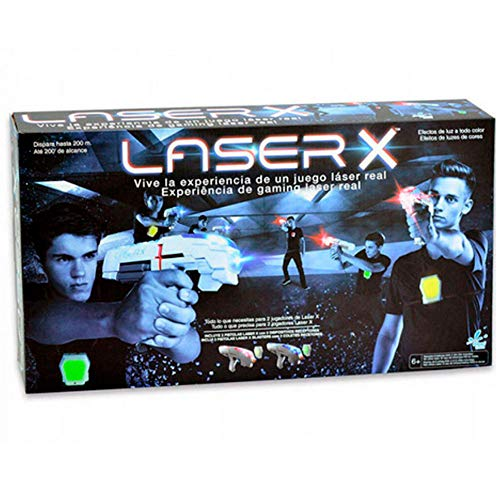 Laser X- Pistola Doble, Color Blanco/Gris (Cife Spain 98139)