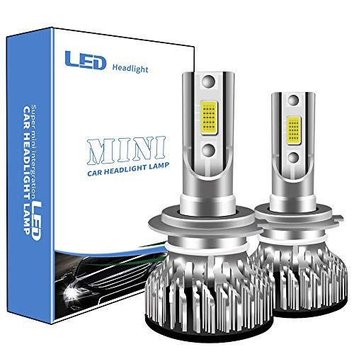 2PCS Lampadine H7 LED 6000K bianco 12000LM 100W per auto Kit faro a LE,Abbagliante o Anabbaglianti,Luce di guida diurna,Fendinebbia Super luminoso