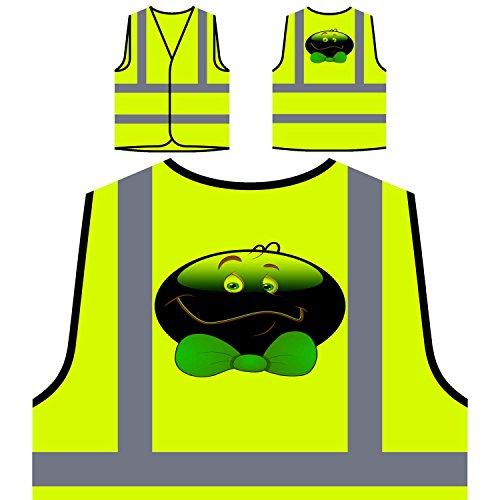 Smile With Ribbon Face Novedad Funny Vintage Art Chaqueta de seguridad amarillo personalizado de alta visibilidad a291v