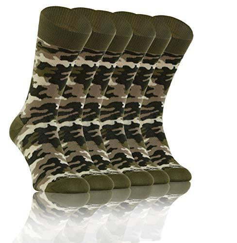 Sesto Senso Lustige Bunte Verrückt Socken Baumwolle Damen Herren 3 Pack Gemusterte Ungleiche Funny Socks Oddsocks Tarnung Tarnsocken Tarnmuster Tarnfarben Camouflage 35-38 3 Camo