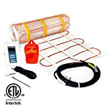 6 sq.ft. 240-Volt. Ceramic & Stone Tile Electric Floor Heating Kit w/Honeywell Floor Thermostat and Installation Alarm, (4.0 ft. x 1.5 ft.)