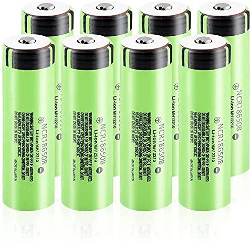 Batería De Iones De Litio De 3,7 V 3400 Mah 18650 Recargable para Control Remoto De Micrófono De Banco De Energía 8 Piezas