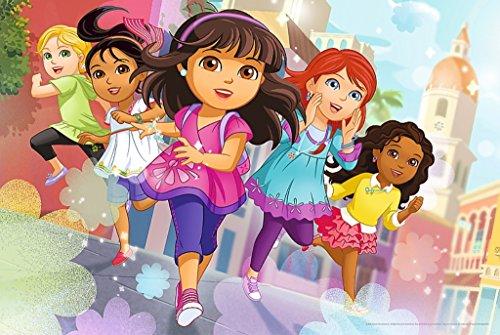 TREFL–Friends Maxi Puzzle bajo Licencia Dora y Sus Amigos 24Piezas, 14242u