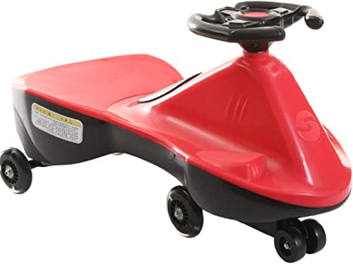 Kinder Twist Car Outdoor Dreirad Schaukel Auto Sicherheit Walker Outdoor Balance Auto Doppelsitz 1-6 Jahre alt Geburtstagsgeschenk (Farbe   Rot)