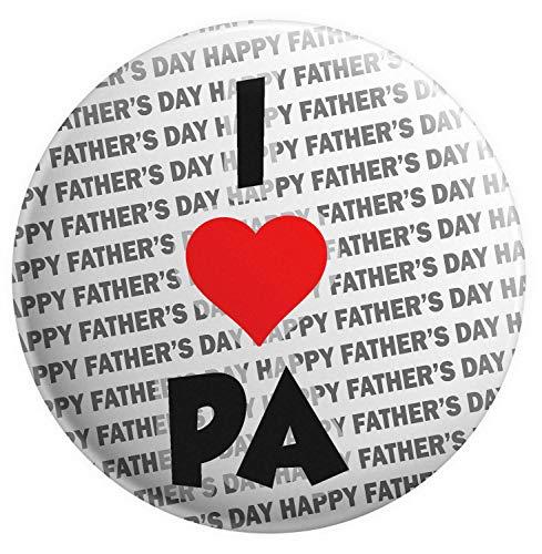 Imán para el Día del Padre – Regalo para Pa – I Love Pa – Insignia trasera