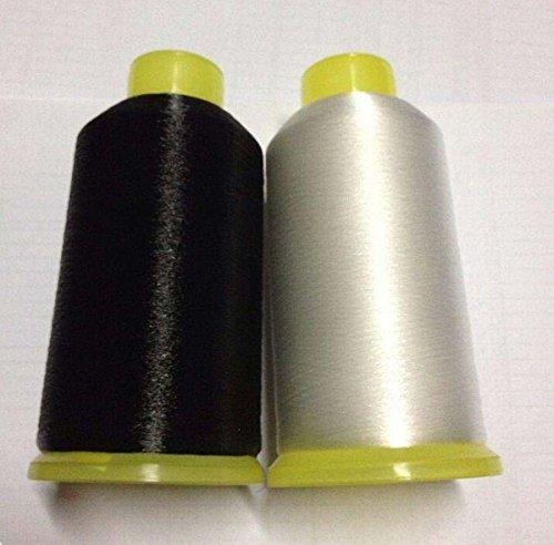 chengyida 0,1mm transparente y negro Nylon hilo de coser Invisible transparente tapicería abalorios, claro mono-filament Invisible hilo, hilo de hilo de bobina de nailon, acolchado–8760Yards