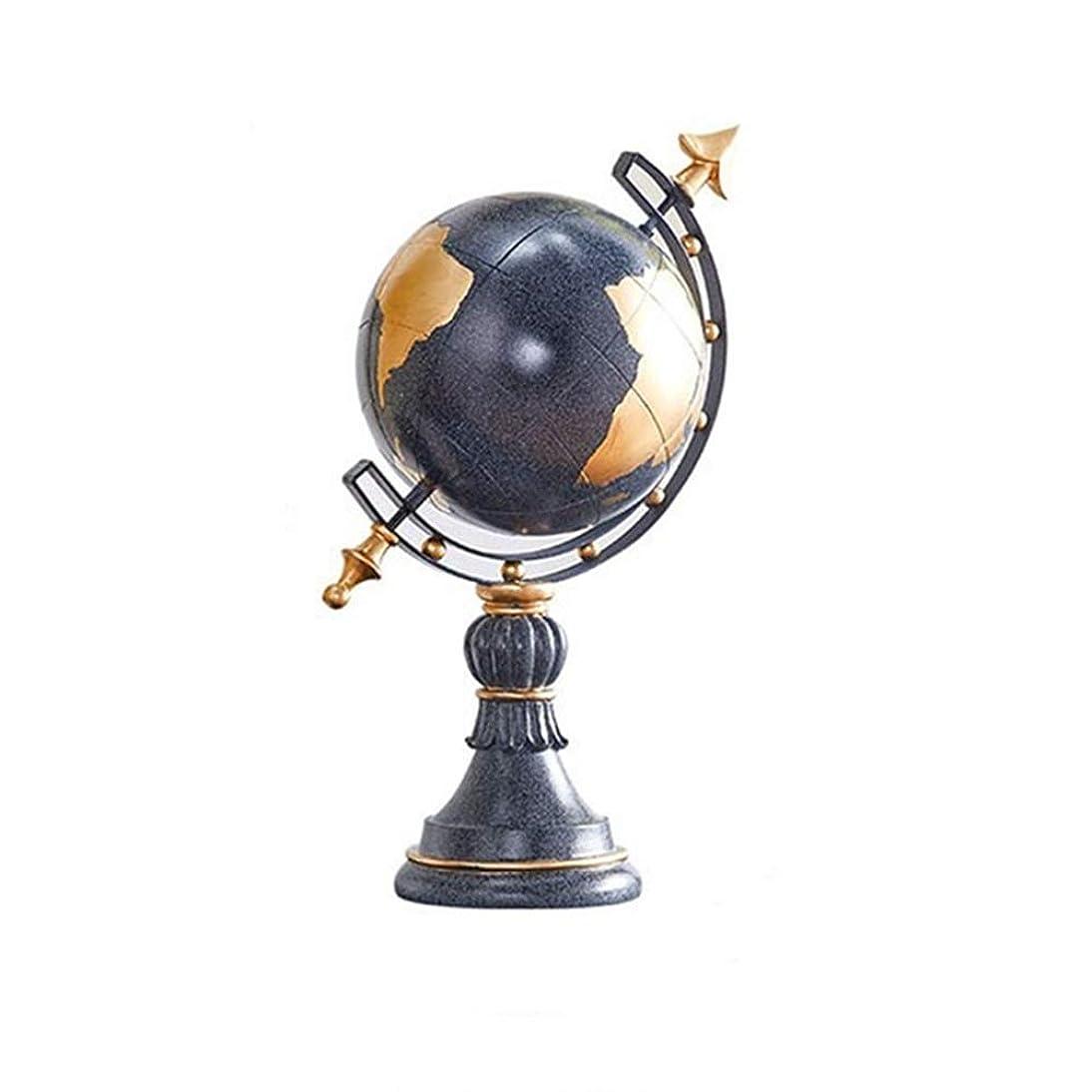 篭欺く深さ地球儀 スタンドオフィスホームデコレーションのための教育のギフトでレトロな世界グローブ世界グローブ (Color : Blue, Size : 24x19x40.5cm)