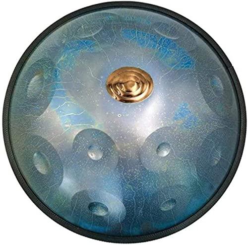 N&G Home Decor Handpan Drum - Instrument Stars Series Rav Drum D Minor 11 Notas Tambor de Acero de 22 Pulgadas con Bolsa Blanda Azul Fabricado en EE. UU. (Color: Azul)