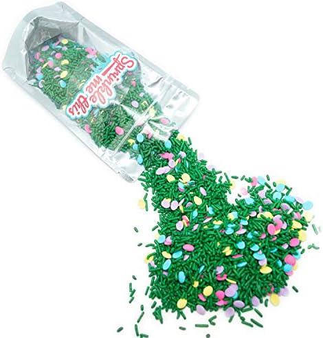 Easter Egg Hunt Sprinkle Mix 1 LB Resealable Standup Candy Bag Pastel Quins in Pink Blue Lavender product image