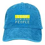 Lsjuee Stop Killing Black People Gorras de béisbol Ajustables Sombreros de Mezclilla Sombrero de Vaq...