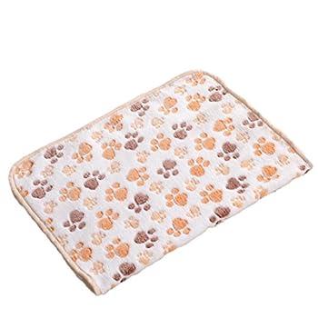 Patte Chien Chat Tapis de chiot en polaire couverture souple mignon Floral pour animal domestique sommeil chaud Tapis 40x 60cm