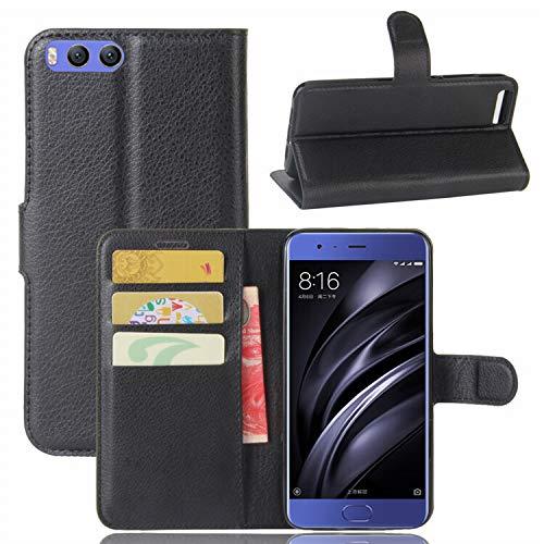 betterfon | Buch Tasche Hülle Etui Book Hülle Cover Schutz Hülle Handy Tasche für Xiaomi Mi 6 Schwarz