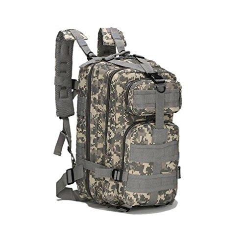 Mochila táctica al aire libre mochilas militares para acampar yendo de excursión y trekking impermeable 30L (ACU)