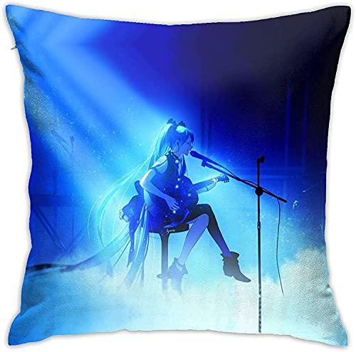Famosa japonesa Virtual Femenina Singer Ha-Tsune & M-Iku Square Design Decorativo Throw Pillow Covers-B3