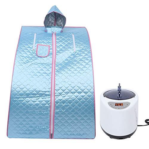 Thuis stoomsauna tent, 2,6 L intelligente afstandsbediening 9 versnellingen temperatuur instelbaar draagbare afneembare persoonlijke spa salon huisstoomkoker met stoel EU.