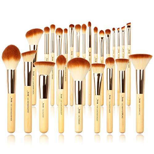 Kit de 25 piezas Brochas de maquillaje profesional Bamboo Beauty Bamboo de la marca Jessup, kit de herramientas de maquillaje, rubor en polvo Foundation Powder BlushesT135