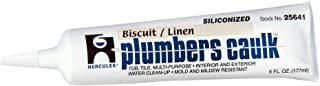Oatey 25641 Hercules 6-Ounce Biscuit Tube Plumber`s Caulk
