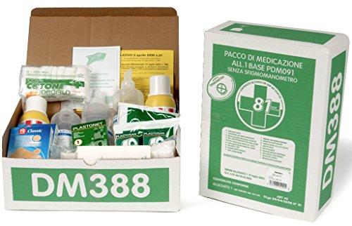 KIT DI PRIMO PRONTO SOCCORSO - reintegro allegato 1 pacco di medicazione senza sfigmomanometro per cassetta medica primo pronto soccorso per aziende con oltre 3 lavoratori.