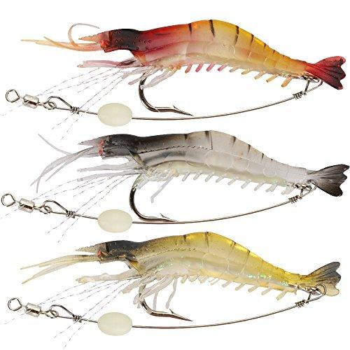 Shelure Soft Lures Shrimp Bait Set Kit Lots For Freshwater Trout Bass...