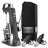 Coravin Model Two Elite Pro - Wine Preservation System - Bottle Opener, Needle Pourer, Aerator, and Wine Saver - Matte Black - Includes 4 Argon Gas Capsules, Carry Case, Base, and Wine Needle