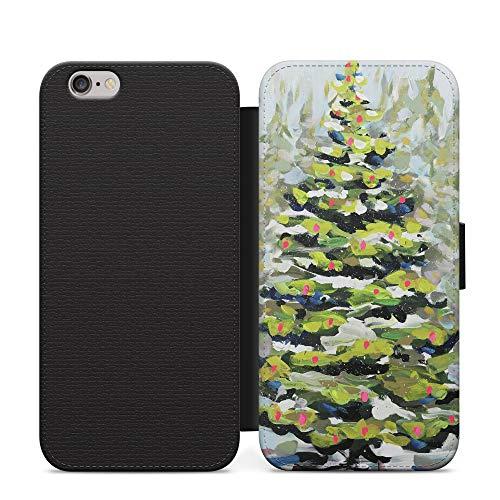 Blanca Nieve Navidad Folio PU Cuero Open Book Wallet Phone Case NFC Para iPhone 8