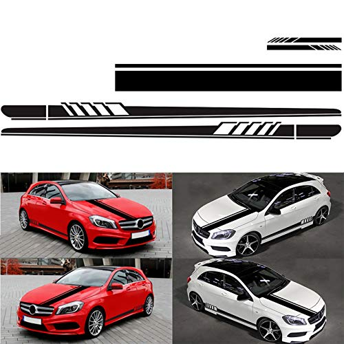 Alivier Adesivo in vinile universale Racing Stripes Car Hood Specchio adesivo Racing Racing Stripe Decal Sticker