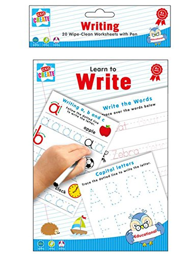 Learn To Write - Spelling écriture & La lecture 20 Essuyez Feuilles de calcul avec stylo