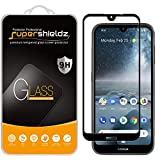 (2 Pack) Supershieldz for Nokia 4.2 Tempered Glass Screen Protector, (Full Screen Coverage) Anti Scratch, Bubble Free (Black)