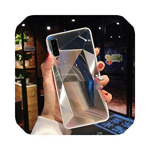 Carcasa suave de espejo 3D para iPhone 11 Pro XR XS Max fundas de teléfono para iPhone 6S 7 8 6 Plus prisma láser degradado cubierta trasera plateada para iPhone 6S Plus