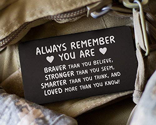 Words of Encouragement Wallet Card; Boyfriend Gift Idea for Him; Great Gift for Graduation or Deployment; Long Distance Gift