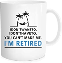 Hasdon-Hill Funny Retirement Gifts for Women Men Dad Mom. Retired Coffee Mug Gift for Coworkers Office or Family. Unique Novelty Ideas for Her Nurses Navy Air Force 11 OZ White Bone China