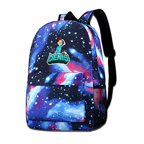 IUBBKI Mochila lateral negra Mochilas informales Denis and Pals Backpack Starry Sky Multi-Function Bookbag Laptop Shoulder Bag for Teens Boys Girls Blue