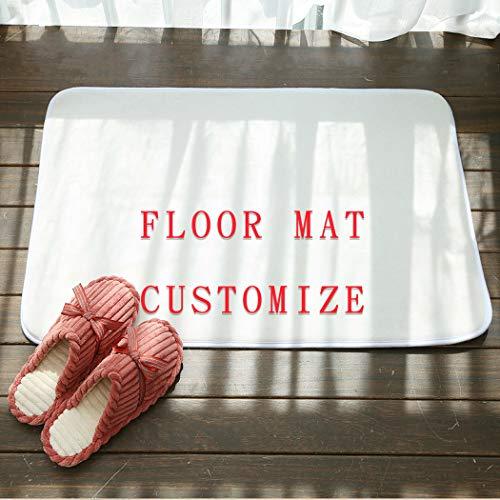 yyfq Fussmatte mit eigenem Bild,mit eigenem Foto Bedrucken Lassen,schmutzfangmatte,personalisierte Fußmatten,Teppiche fußmatte (40 * 60cm)