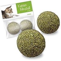 Bola de menta de juguete para gatos de Forck 2 piezas, nuestras bolas de menta consisten en 100% de hierba gatera natural | Empleo y juego para gatos