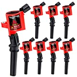 CarBole Pack of 8 Curved Boot Ignition Coils for Ford Lincoln Mercury 4.6L 5.4L Compatible with DG508 DG457 FD503