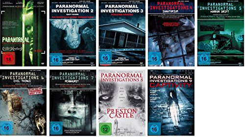 Paranormal Investigations 1-9 DVD Set, deutsch, 1,2,3,4,5,6,7,8,9 uncut, I-IX
