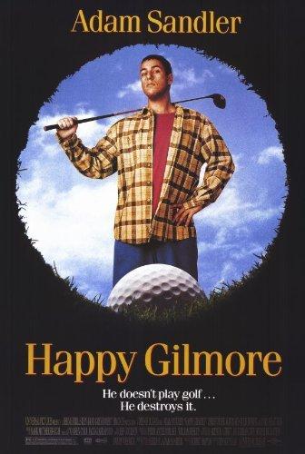 Póster de la película Happy Gilmore (11 x 17 Pulgadas – 28 cm x 44 cm) (1996) Estilo A (Adam Sandler) (Christopher Mcdonald) (Carl Weathers) (Julie Bowen) (Frances Bay) (Ben Stiller)