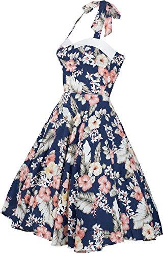 Küstenluder WANDA Hibiscus Aloha Vintage Neckholder SWING Dress Kleid Rockabill - 2