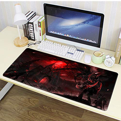 World of Warcraft Mouse Pad,Professional Large Gaming Mouse Cushion,Extended Size Desk Mat Non-Slip Rubber Mouse Pad,Comfortable for Mac PC Laptop (W8, 35.4 x 15.7 x 0.12inch)