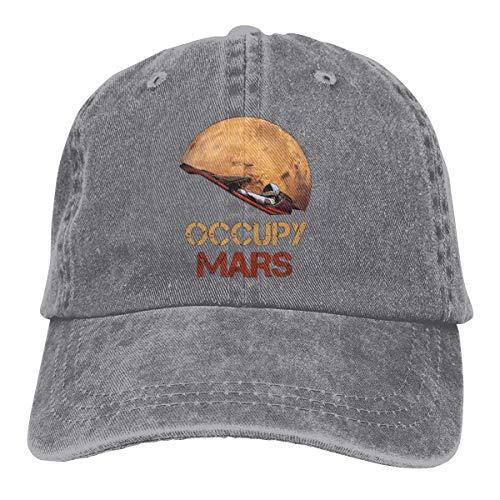 maichengxuan Gorra Trucker Occupy Mars Starman Spacex Durable Gorra de béisbol, ajustable, color negro