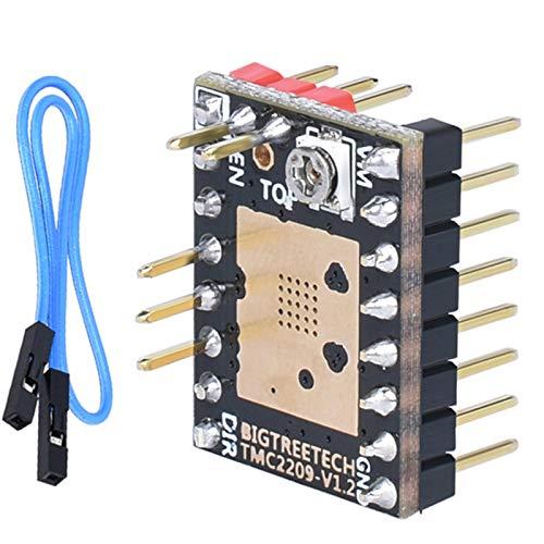 PoPprint TMC2209 V1.2 - Controlador de motor paso a paso UART VS TMC2208 TMC2130 A4988 SKR V1.3 Pro, tarjeta de control de piezas de impresora 3D Mini E3 (TMC2209 V1.2, 1 unidad)