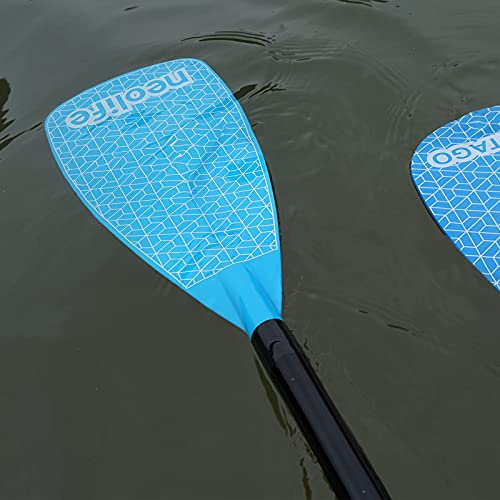 wonitago SUP Paddles with Fiberglass Shaft and Nylon Blade, Floating Paddleboard Oars, Adjustable 170-210 cm/67-83 Inches, Teal