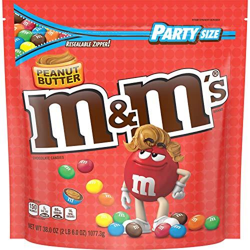 M&M's Peanut Butter - Erdnussbutter - Riesenpackung 1077g 38 oz Bag USA
