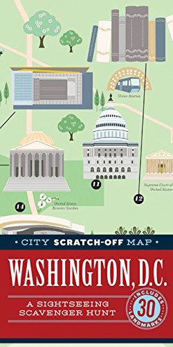 City Scratch-Off Map: Washington, D.C.: A Sightseeing Scavenger Hunt