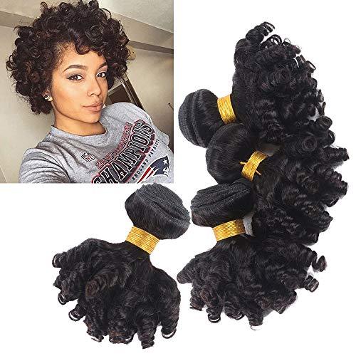 Brazilian Funmi Human Hair Bouncy Curly Hair Weave Bundles Short Curly Weave Brazilian Virgin Hair Bundles Aunty Funmi Hair Bouncy Curls Bob Human Hair Style Hair Weft Bc16 16 16 Inch Buy Online