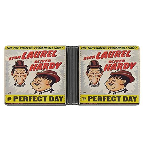 Laurel and Hardy Geldbörse aus PU-Leder für Kreditkarten, Bargeld etc.