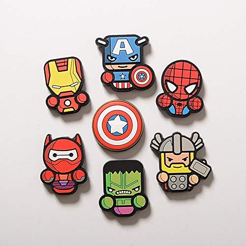 siqiwl Imán para frigorífico (8 Unidades), diseño de Los Vengadores de Marvel
