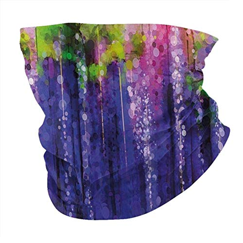 N/W Outdoor Schal Halstuch Halstuch Gesicht Bandana Schal Kopftuch Blume Home Decor Ornament Glyzinien Daunen Samen Leben Anbau Kunst Muster Grün Kopftuch