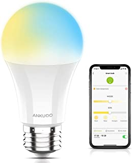 Smart Light Bulb WiFi Dimmable LED Bulbs E26 Light Bulb Tunable 60W LED Bulb Works with Alexa,Google Home via REC app,Easy Setup,Schedule,No Hub Required,